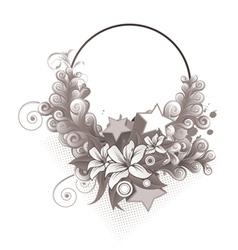 Splash floral frame vector