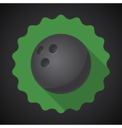 Sport Ball Bowling Flat icon background vector image