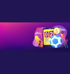 sports betting concept banner header vector image