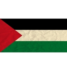State of Palestine paper flag vector image