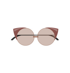 Stylish female cat-eye sunglasses of rounded shape vector
