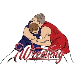 Summer kinds of sports Wrestling vector image