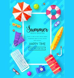 summer vecetion time brochure cards se vector image