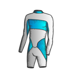 Surfer swimming suit for man color vector