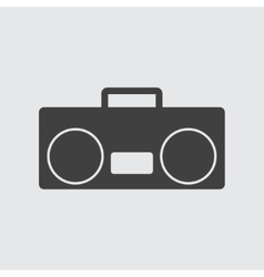 Tape recorder icon vector