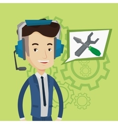 Technical support operator vector image