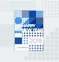 Template for new years cover of a catalog vector