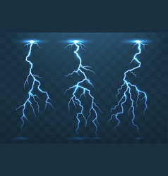 thunder bolt and lightnings thunderstorm vector image