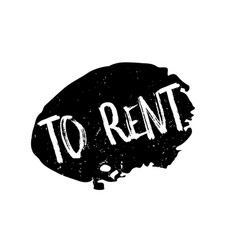 To rent rubber stamp vector