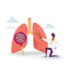 Tuberculosis medical pulmonological care vector