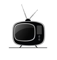 tv ancient black vector image