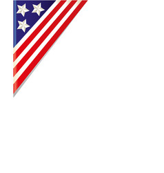 Usa flag border corner vector