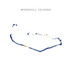 Waving flag map marshall islands vector