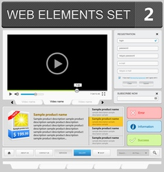 Web elements set 2 vector