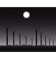 windmills for energy vector image