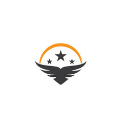 Wing bird logo template vector