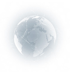 World globe on gray background global network vector
