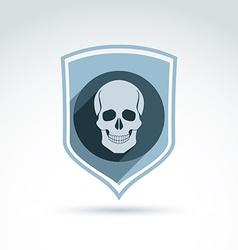 a human skull in a shield Dead head abst vector image