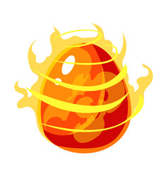 fire element egg with flames fantastic natural vector image vector image