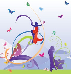models butterfly vector image vector image