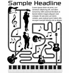 music page vector image