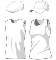 shirts and caps vector image vector image