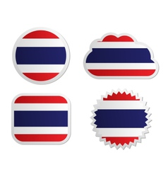Thailand flag labels vector image vector image