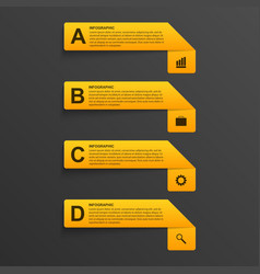 3D realistic paper options infographics modern vector image vector image
