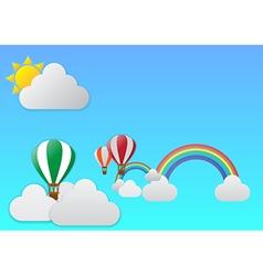 balloon journeyth vector image vector image