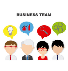 businessman working in team vector image
