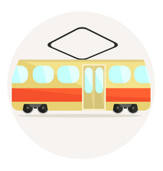 cute colorful flat tram icon vector image
