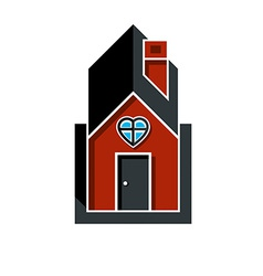 Family house abstract icon harmony at home concept vector image