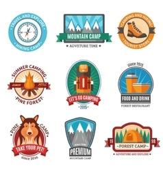 Hiking emblem set vector image vector image