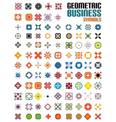 Huge set of business symbols - geometric shapes vector image