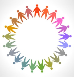 icon of colorful people pictogram vector image