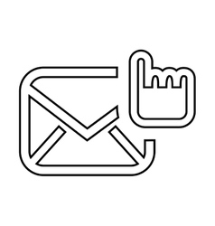 Selection email setup isolated icon design vector