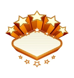 Vegas emblem vector image
