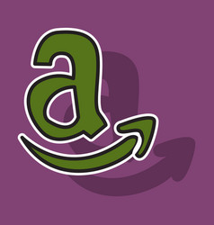 amazon online shop smile store icon concept vector image vector image