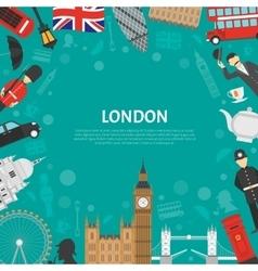 London City Frame Background Flat Poster vector image