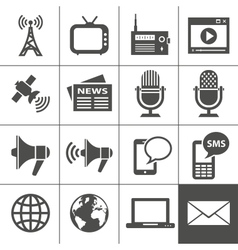 Media icons set - Simplus series vector image vector image