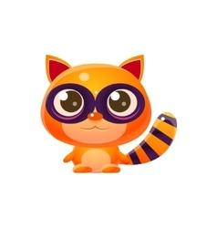 Raccoon Baby Animal In Girly Sweet Style vector image