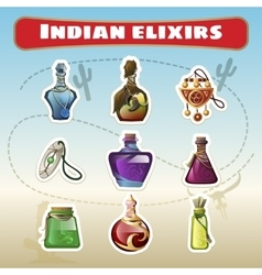 The Indian set of elixirs vector image