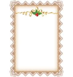 vintage christmas page vector image vector image