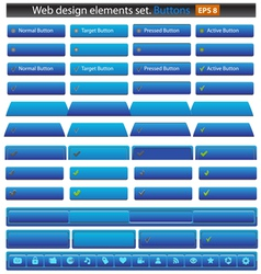 web buttons set vector image