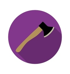 Axe icon with long shadow vector image