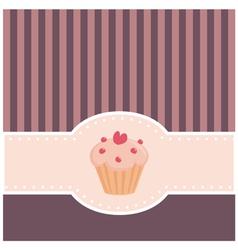 retro muffin cupcake invitation vector image vector image