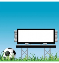 soccer ball with placard vector image vector image