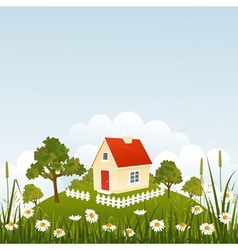 Summer house vector image vector image