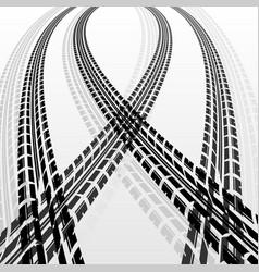 warp tire tracks vector image vector image