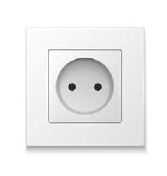 White socket outlet vector image